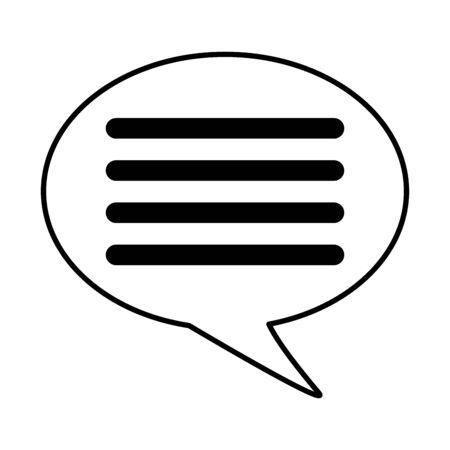 message speech bubble on white background vector illustration