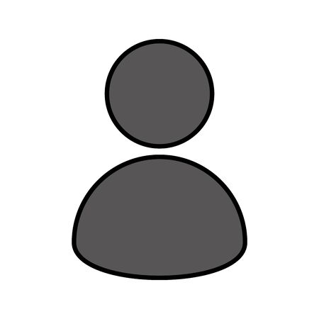 silhouette user avatar icon vector illustration design