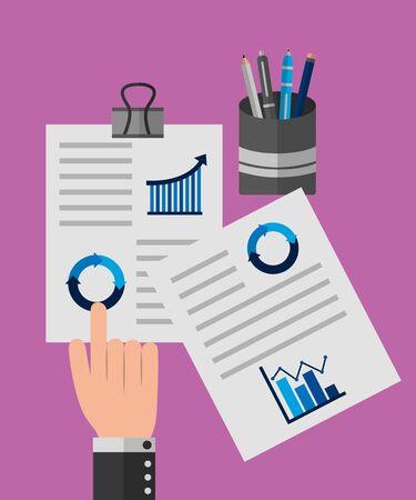 Statistics design, Infographic data information business analytics and visual presentation theme Vector illustration