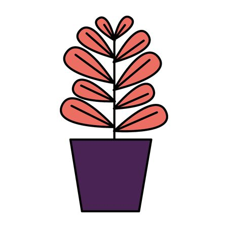 potted plant decoration on white background vector illustration Stock Vector - 129918160