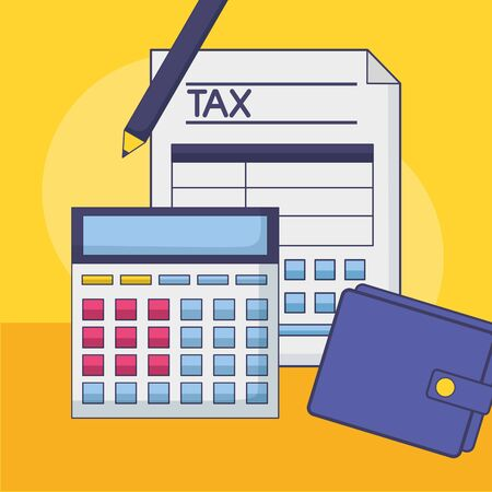 Tax and money symbol design, Finance accounting commerce market payment and government theme Vector illustration