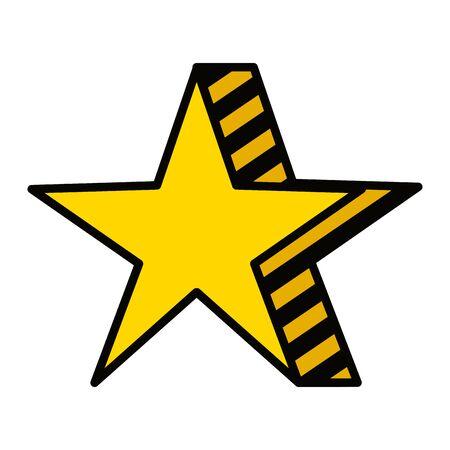 elemento premio stella isolato icona illustrazione vettoriale design Vettoriali