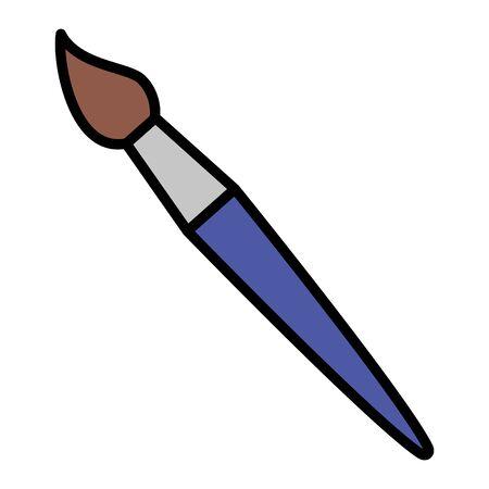 paintbrush supply school on white background vector illustration