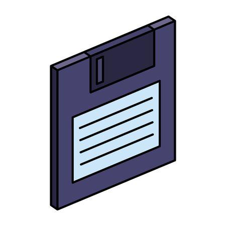Diskette Datenspeicher Symbol Vektor Illustration Design Vektorgrafik