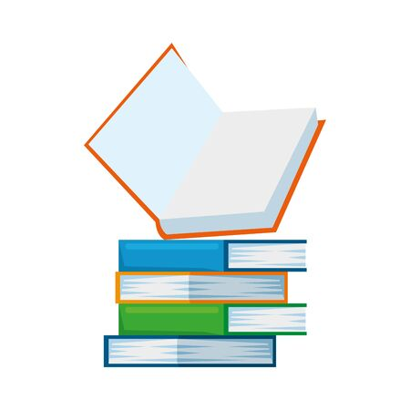 pile text books education icons vector illustration design Illustration