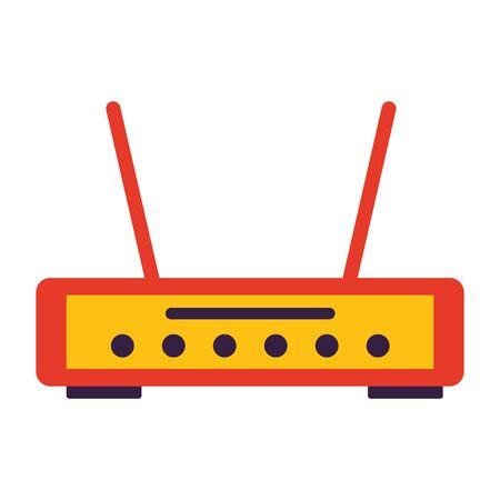 Router-Internet auf weißem Hintergrund-Vektor-Illustration