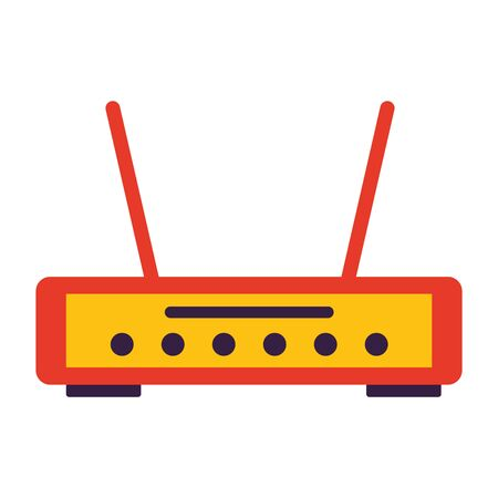 router internet on white background vector illustration
