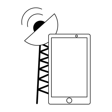 smartphone antenna signal sensor on white background vector illustration 向量圖像