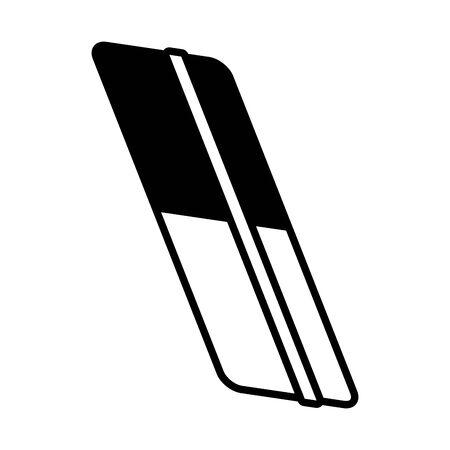 eraser supply school on white background vector illustration
