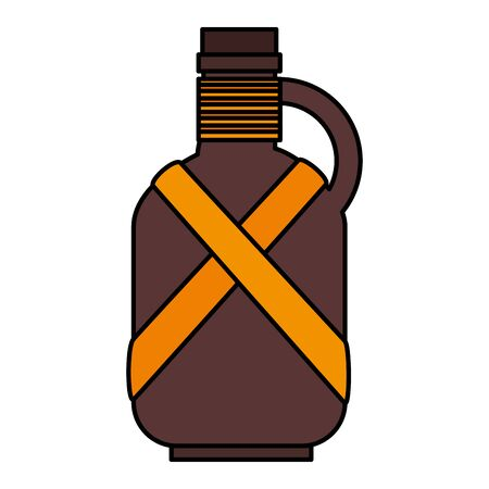 water jar camping accessory icon vector illustration design