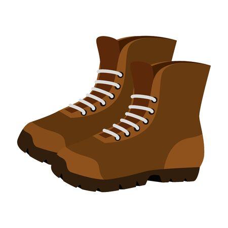 laarzen schoenen avontuur accessoire pictogram vector illustratie ontwerp