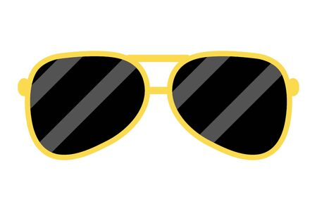 sunglasses  accessory on white background vector illustration