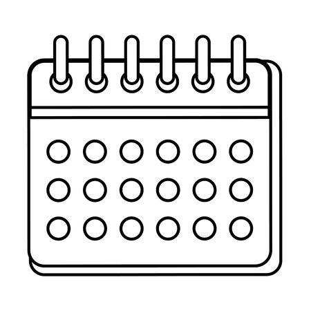calendar reminder date icon vector illustration design