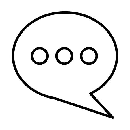 talk bubble on white background vector illustration