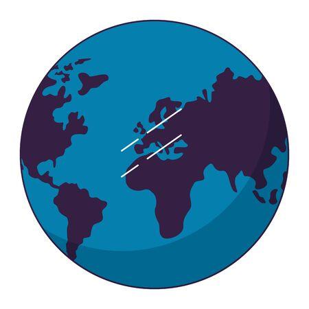 world map on white background vector illustration  イラスト・ベクター素材