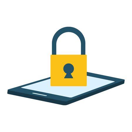 smartphone security app send email vector illustration Banque d'images - 130074035