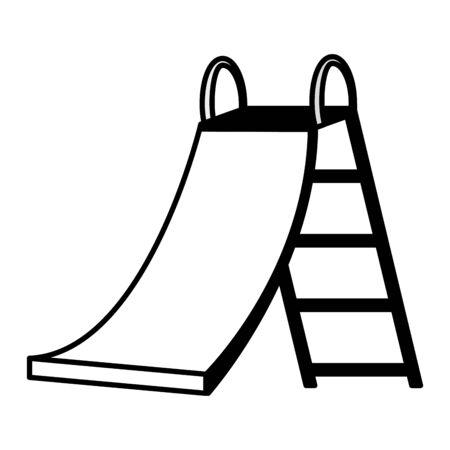 slide game kids zone on white background vector illustration Stockfoto - 129951655