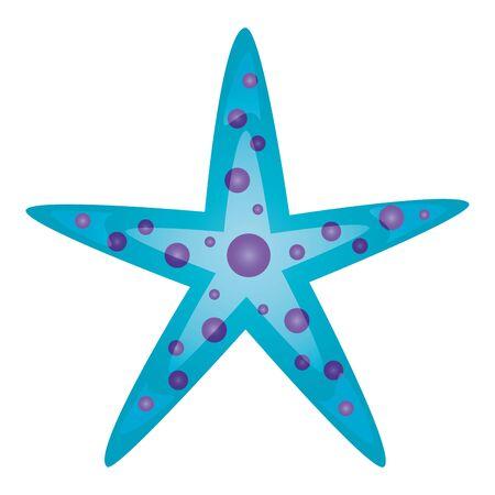 vida silvestre de estrellas de mar sobre fondo blanco ilustración vectorial ilustración vectorial Ilustración de vector
