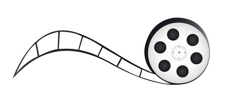 film reel cartoon isolated over white background. vector Reklamní fotografie - 130007806