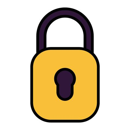 padlock security protection on white background vector illustration 일러스트