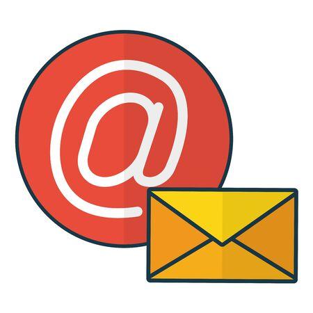 send email web envelope media vector illustration