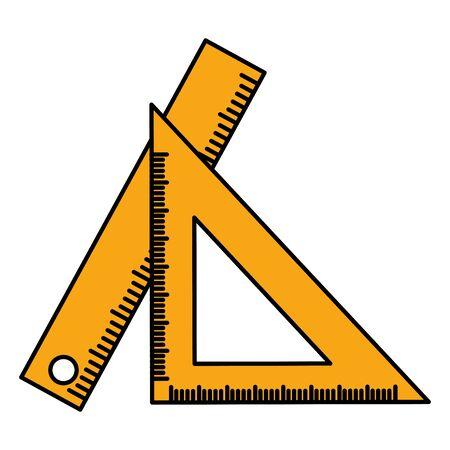 ruler school on white background vector illustration