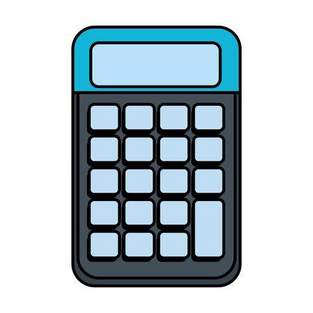 calculator math digital device icon vector illustration design Illusztráció