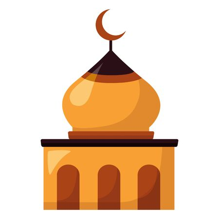 temple dome architecture culture on white background vector illustration Иллюстрация