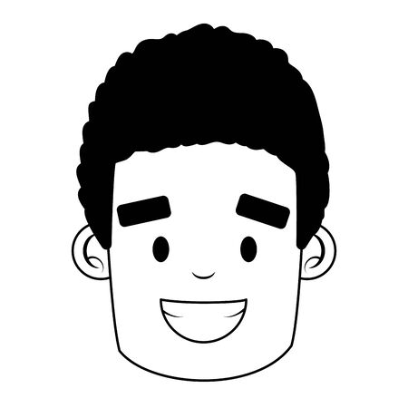 face man character on white background vector illustration 向量圖像