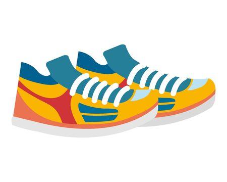 Tennis Sportschuhe Schuhe Zubehör Vektor-Illustration Design