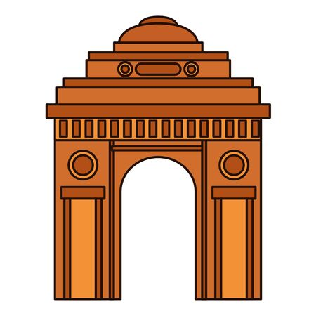 indian gateway building independence day icon vector illustration design 写真素材 - 130075017