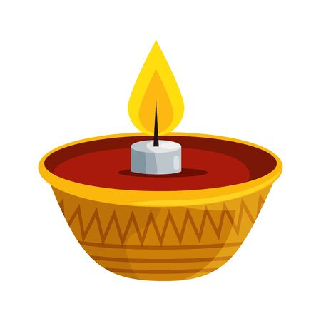 ramadan kareem candle decorative icon vector illustration design