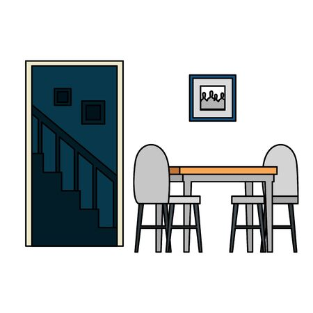 house place dinning room scene vector illustration design Stock fotó - 132559211