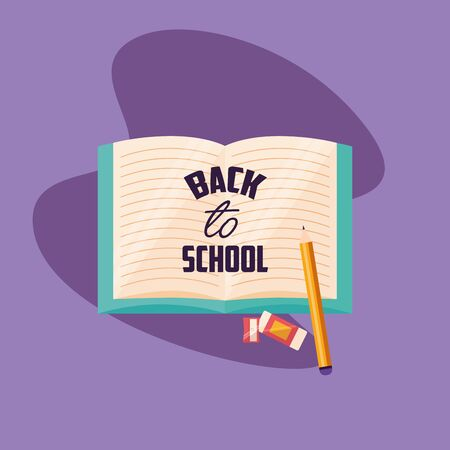 Back to school design, Education learning knowledge study class and lesson theme Vector illustration