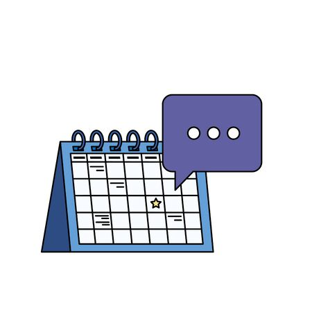 calendar reminder date with speech bubbles vector illustration design Ilustração