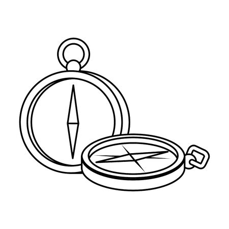 compass guide device isolated icon vector illustration design Banque d'images - 130011002