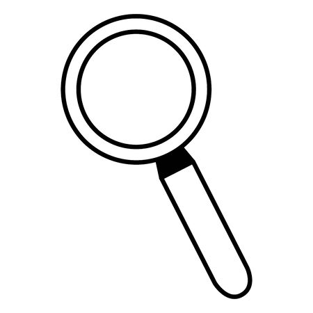 magnifying glass search icon on white background vector illustration  イラスト・ベクター素材