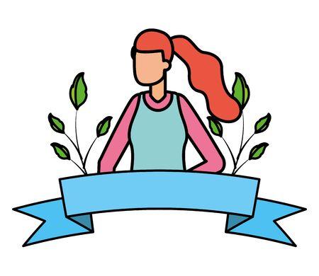 gardener woman plants work gardening design vector illustration Illustration