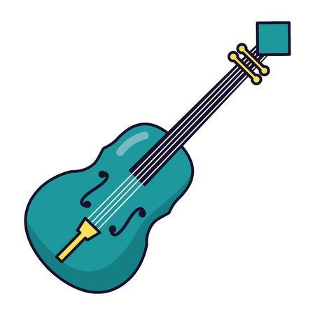 fiddle instrument music festival on white background vector illustration Иллюстрация
