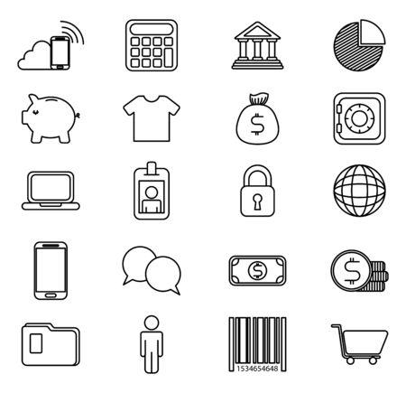 bundle of business monochrome set icons vector illustration design 일러스트