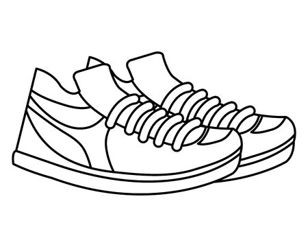 tennis sport shoes footwear accessory vector illustration design Vectores