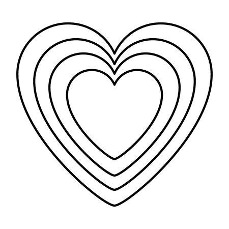 heart love romantic isolated icon vector illustration design Illusztráció