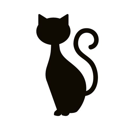 sylwetka kota zwierzę halloween ilustracji wektorowych projektowania Ilustracje wektorowe