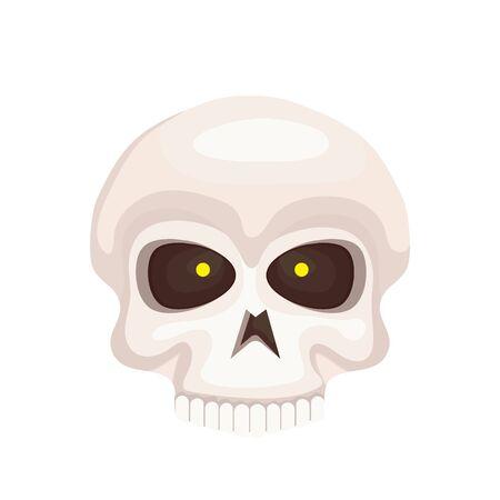 skull dead halloween isolated icon vector illustration design