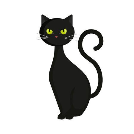 chat animal de conception d'illustration vectorielle halloween Vecteurs
