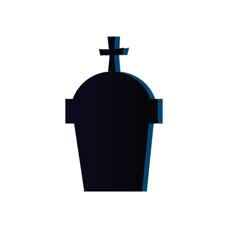 halloween tomb of cemetery icon vector illustration design 向量圖像