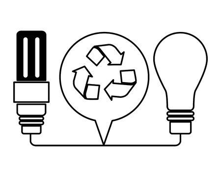 eco friendly environment light bulb recycle vector illustration Ilustracja