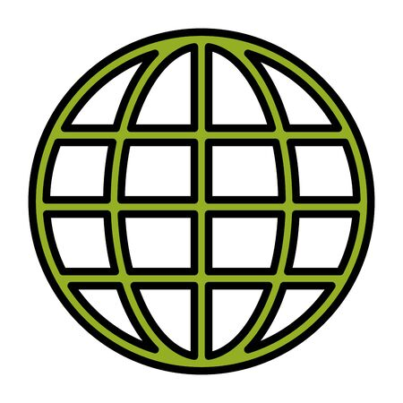 world eco friendly on white background vector illustration
