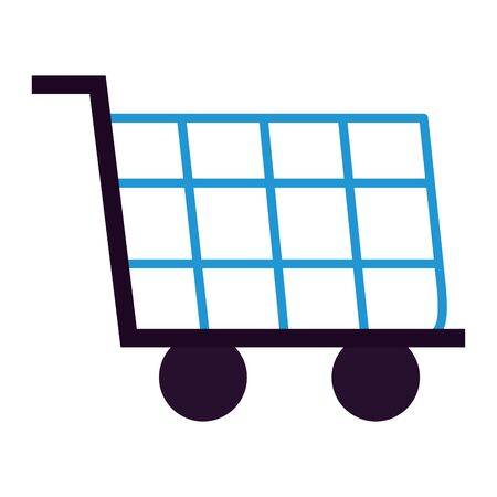 shopping cart ecommerce market on white background vector illustration