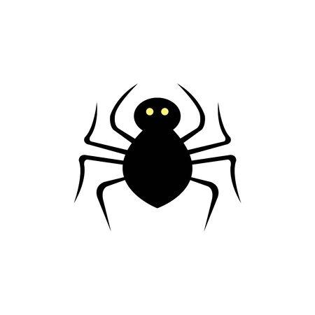 Spinnentier für Halloween isolierte Symbol-Vektor-Illustration-Design